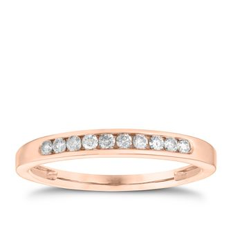9ct Rose Gold 15pt Diamond Eternity Ring - Product number 3635937