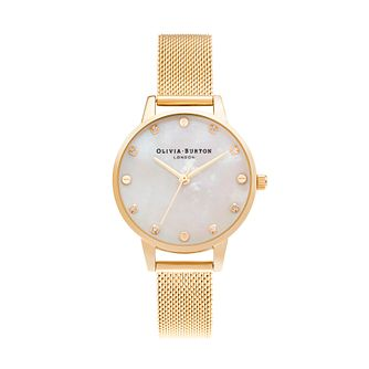 Olivia Burton Classic Ladies' Gold Tone Mesh Bracelet Watch - Product number 3635953