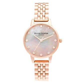 Olivia Burton Classic Ladies' Rose Gold Tone Bracelet Watch - Product number 3636038