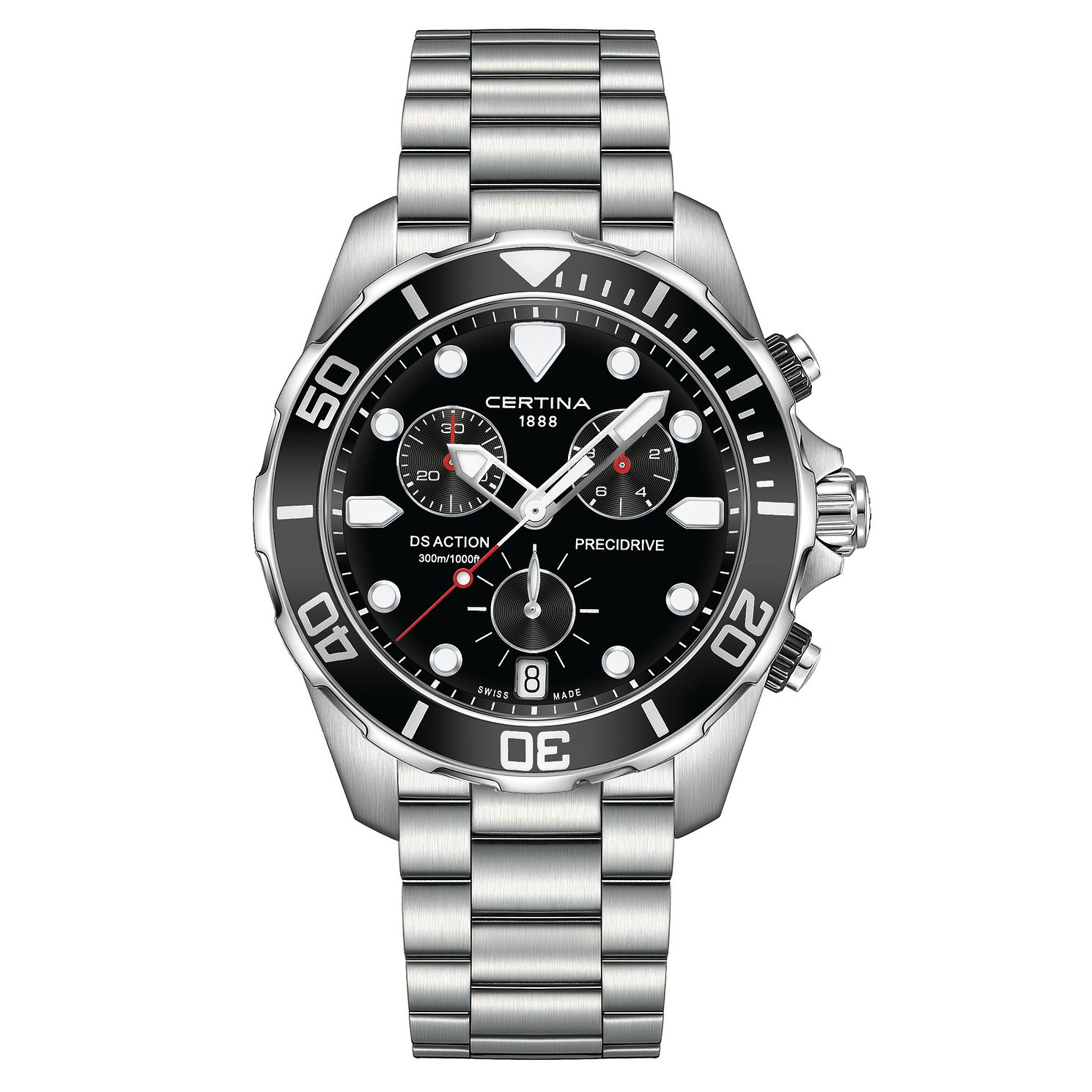 Certina Action Men's Stainless Steel Bracelet Watch - Product number 3636917