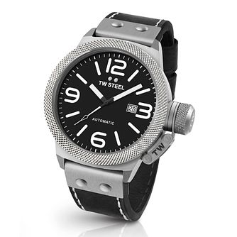 Tw Steel Canteen Men's Stainless Steel Black Strap Watch - Product number 3638944