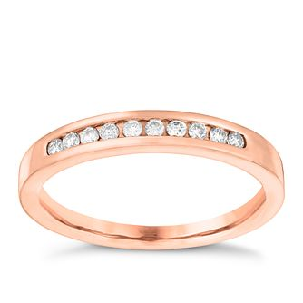 18ct Rose Gold 0.15ct Diamond Eternity Ring - Product number 3639096
