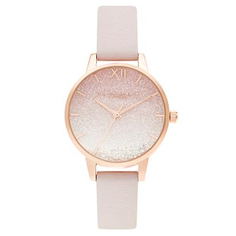 Olivia Burton Sunrise Wihing Wave Pink Leather Strap Watch - Product number 3640140
