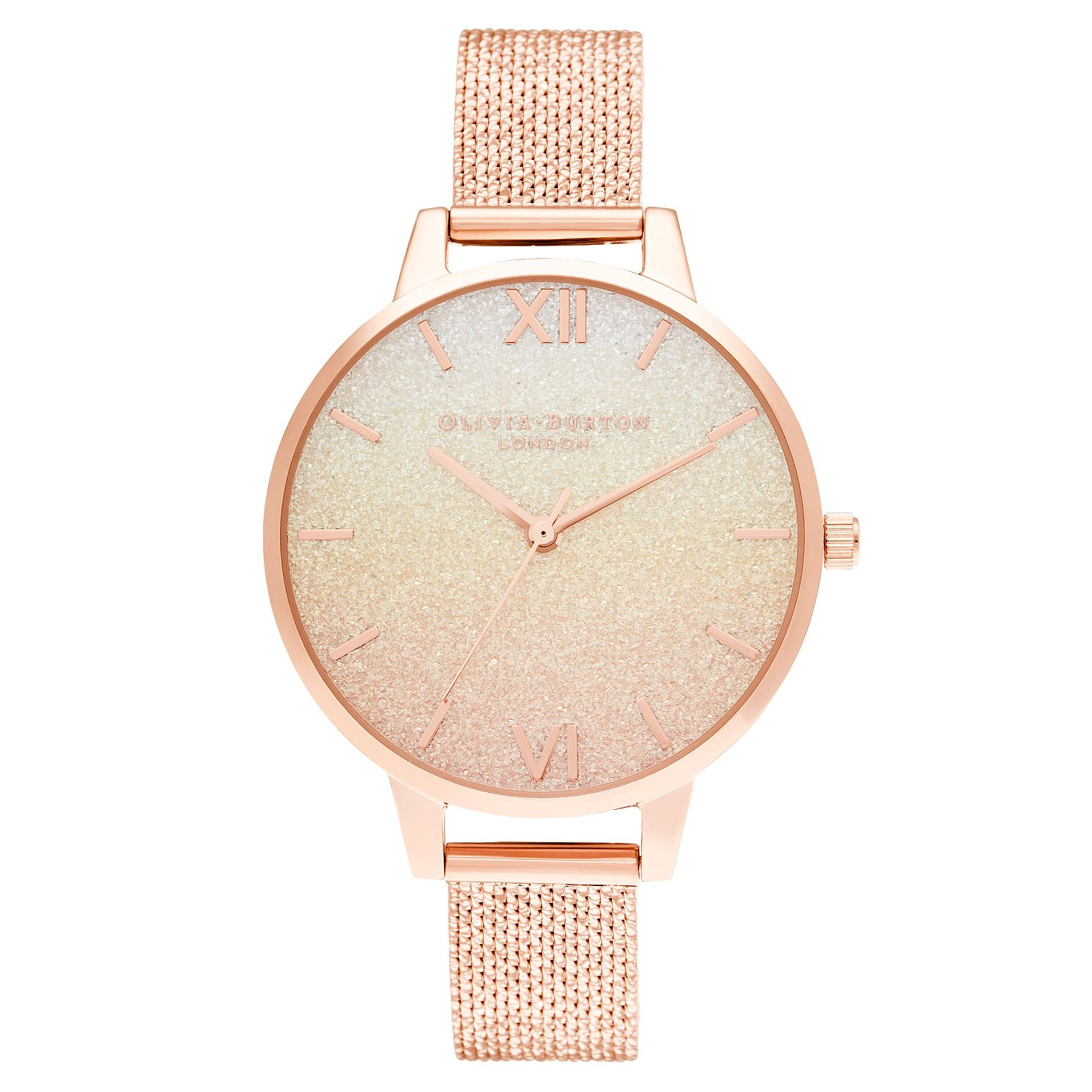 Olivia Burton Sunset Rose Gold Tone Mesh Bracelet Watch - Product number 3640159