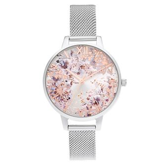 Olivia Burton Abstract Floral Stainless Steel Bracelet Watch - Product number 3640256