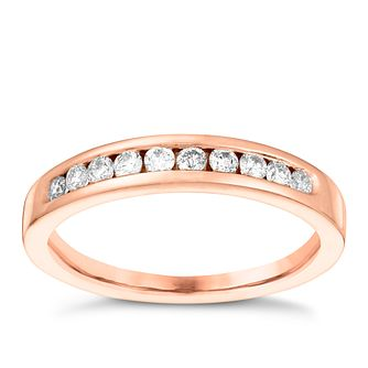 18ct Rose Gold 0.25ct Diamond Eternity Ring - Product number 3640280
