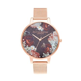 Olivia Burton Winter Bloom Rose Gold Tone Bracelet Watch - Product number 3640558