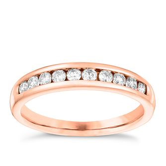 18ct Rose Gold 0.33ct Diamond Eternity Ring - Product number 3641333