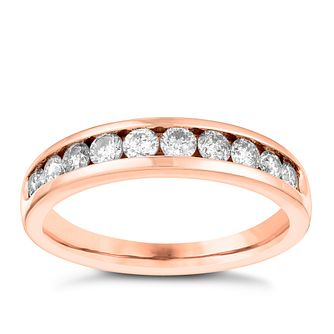 18ct Rose Gold 0.50ct Diamond Eternity Ring - Product number 3642097
