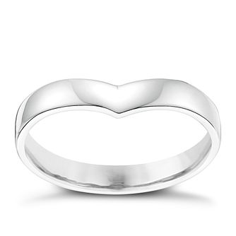 Ladies' Palladium Shaped Wide Wedding Ring - Product number 3651398