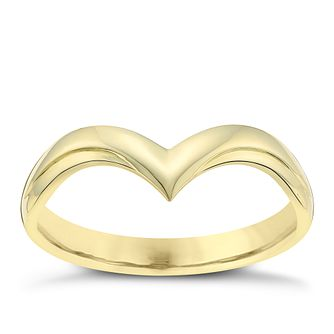 Ladies' 18ct Yellow Gold V Shaped Wedding Ring - Product number 3652734