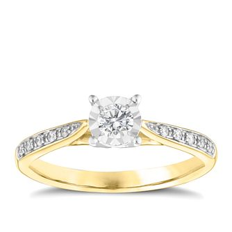 9ct Yellow Gold 0.25ct Diamond Ring - Product number 3653358