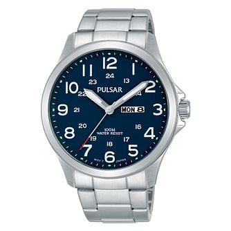 Pulsar Men's Blue Dial Stainless Steel Bracelet Watch - Product number 3654435