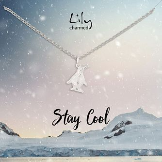 Lily Charmed Sterling Silver Penguin Necklace - Product number 3654494
