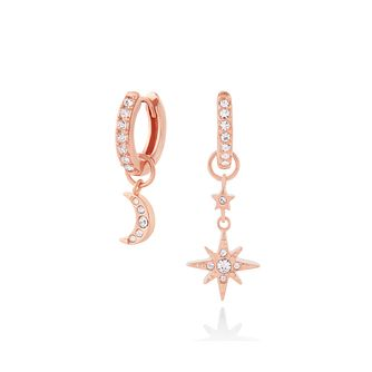 Olivia Burton RoseGold Plated Silver Crystal Huggie Earrings - Product number 3654788