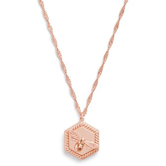 Olivia Burton Lucky Bee Rose Gold Tone Locket Pendant - Product number 3654885