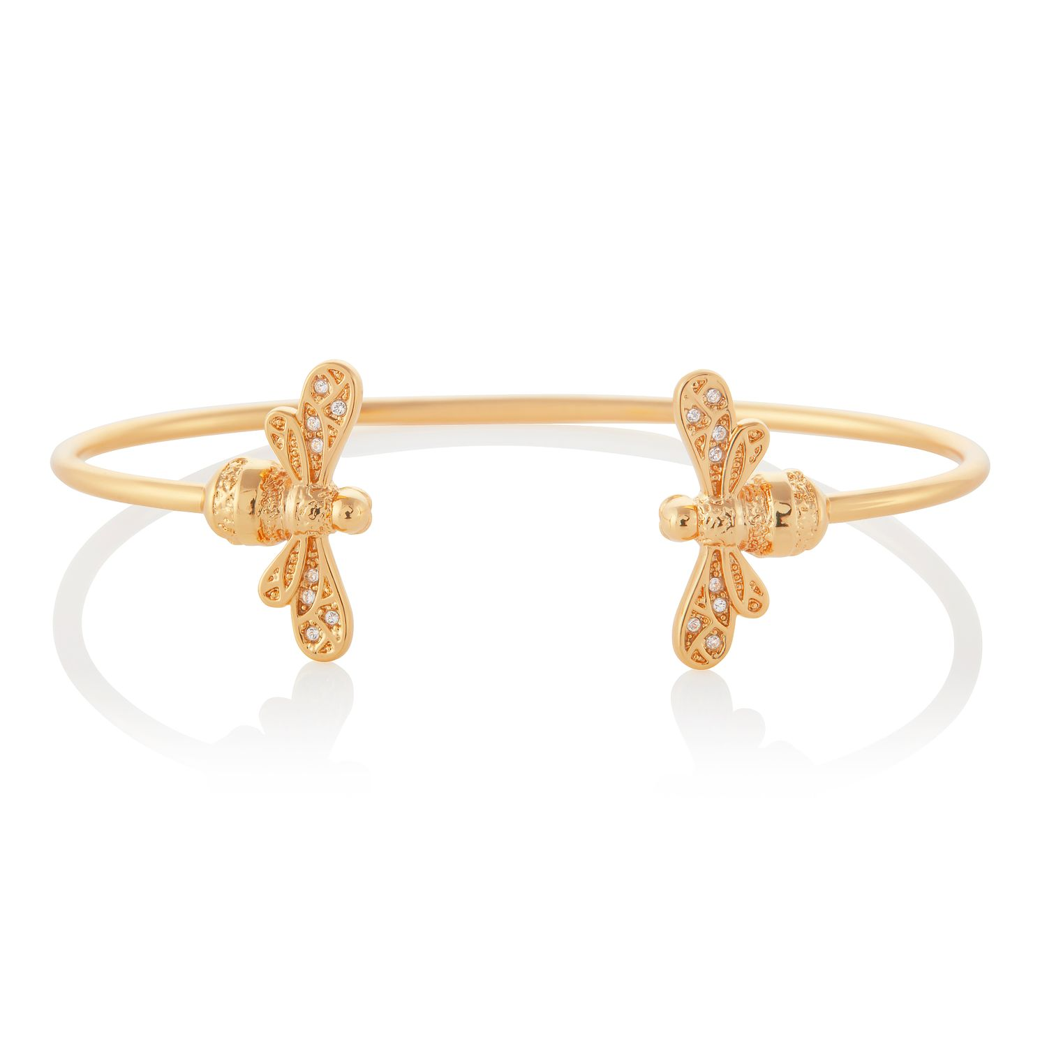 Olivia Burton Sparkle Bee Rose Gold Tone Bangle - Product number 3654931
