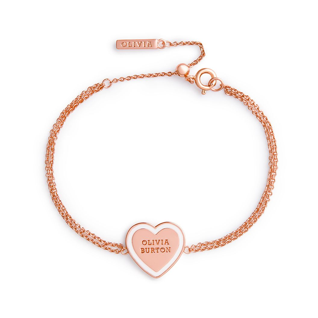 Olivia Burton Candy Heart Rose Gold Tone Bracelet - Product number 3654974