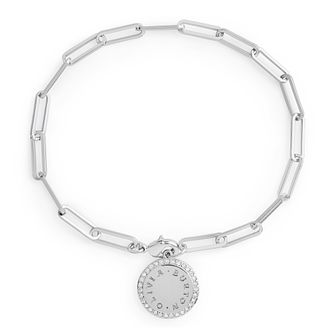 Olivia Burton Classics Crystal Rhodium Plated Disc Bracelet - Product number 3655040