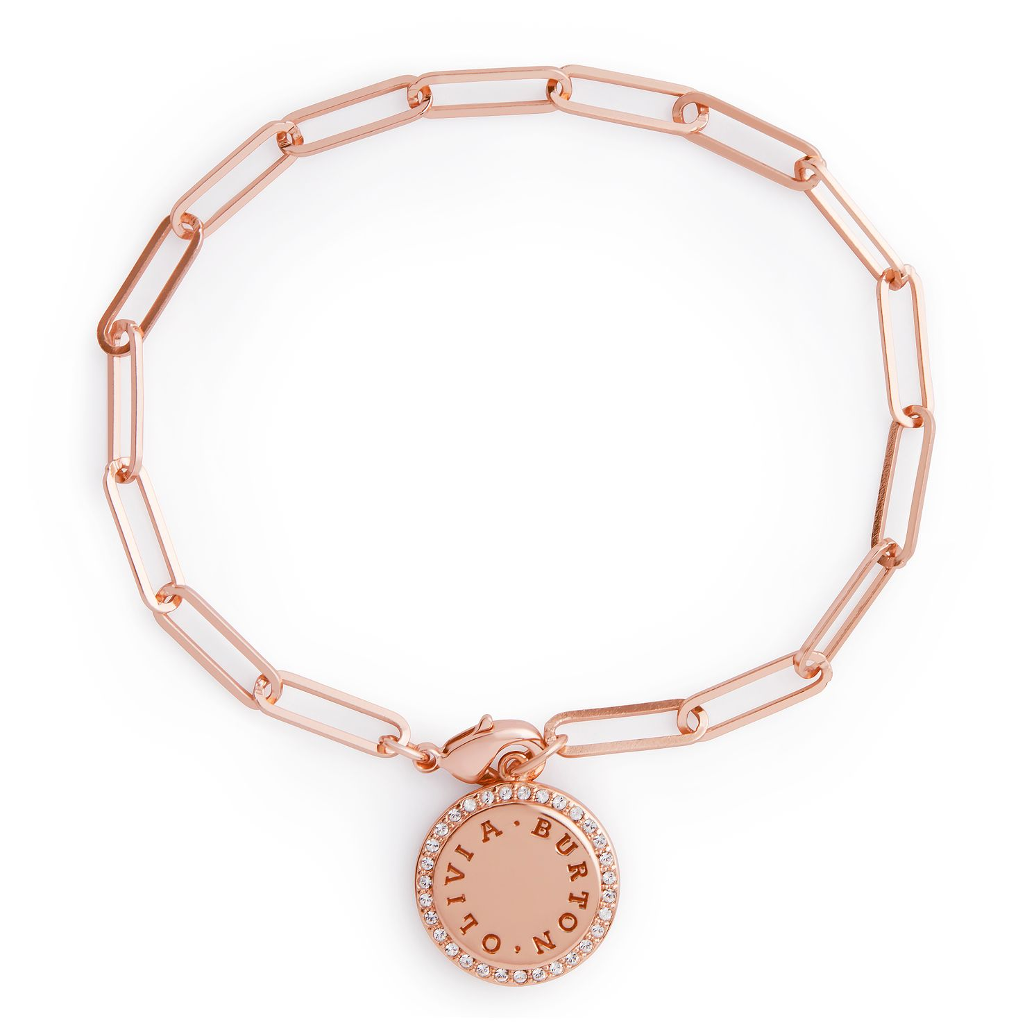Olivia Burton Classics Crystal Rose Gold Tone Disc Bracelet - Product number 3655067