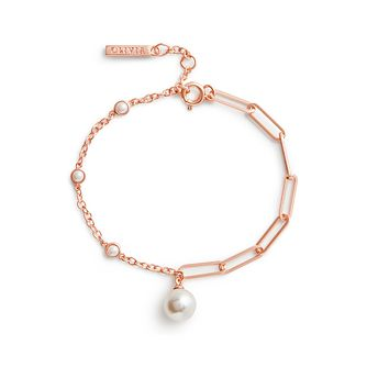 Olivia Burton Imitation Pearl Rose Gold Tone Bracelet - Product number 3655075