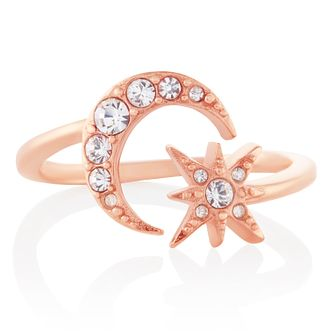 Olivia Burton Moon & Star Rose Gold Tone Ring - Product number 3655148