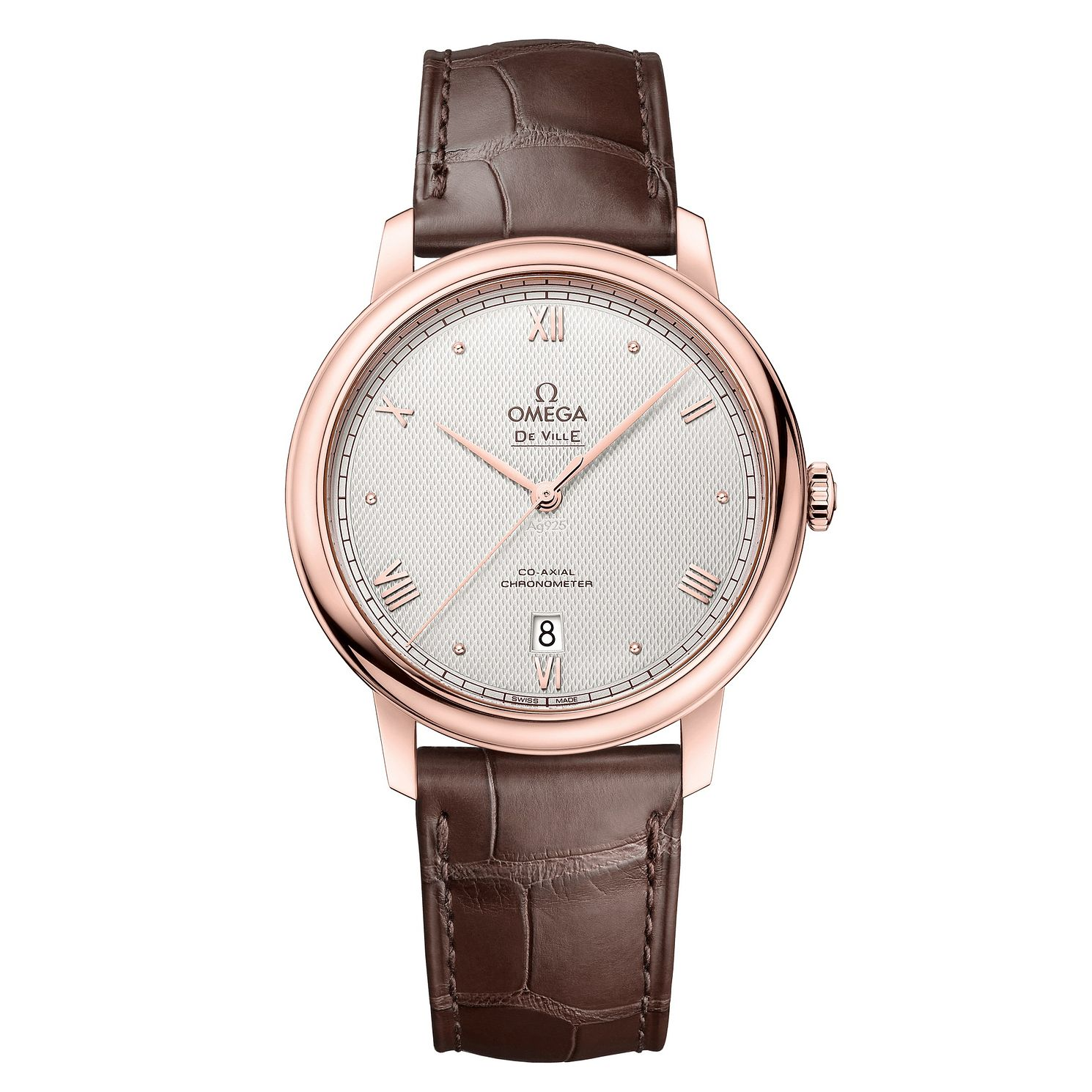 Omega De Ville 25th Anniversary Brown Leather Strap Watch - Product number 3657779