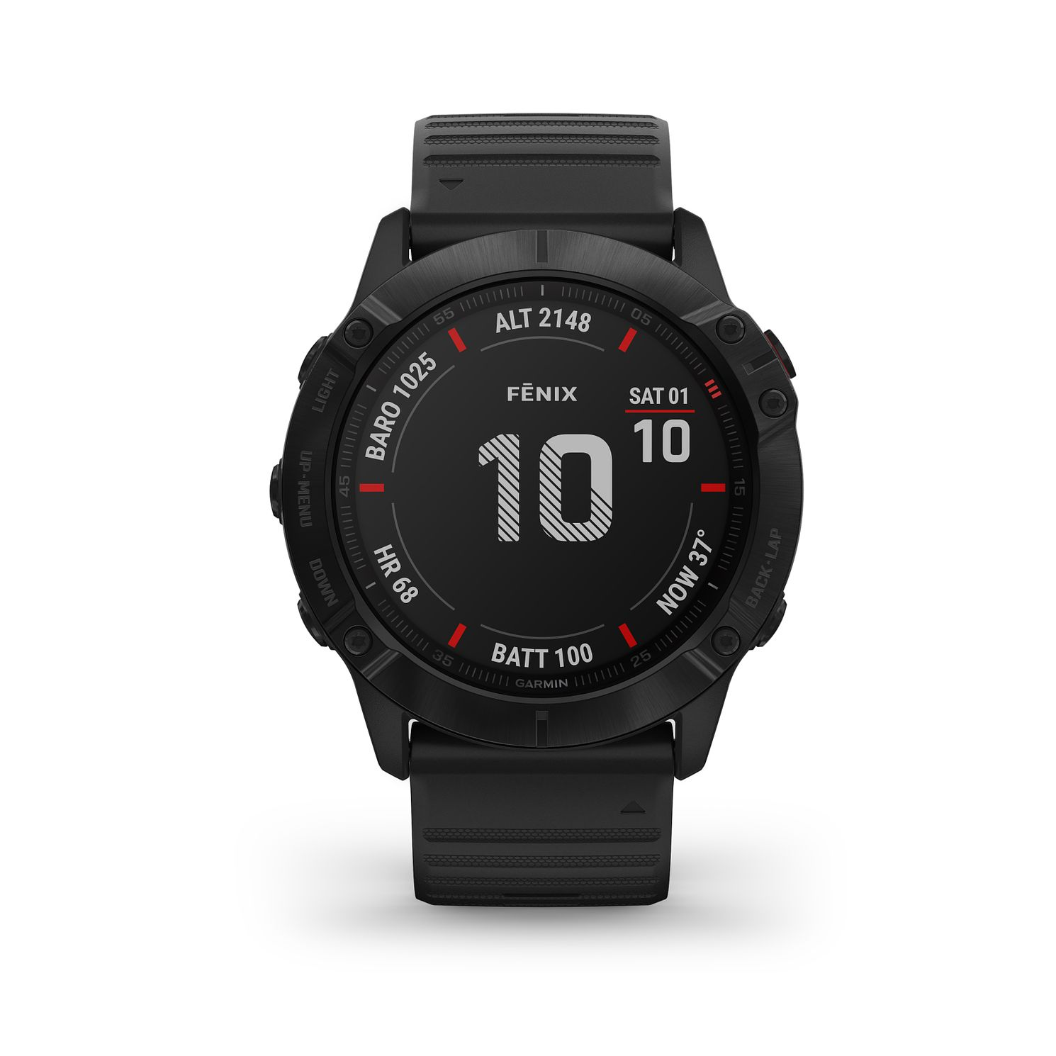 Garmin fenix 6X Pro Men's Black Silicone Strap Smart Watch - Product number 3657787
