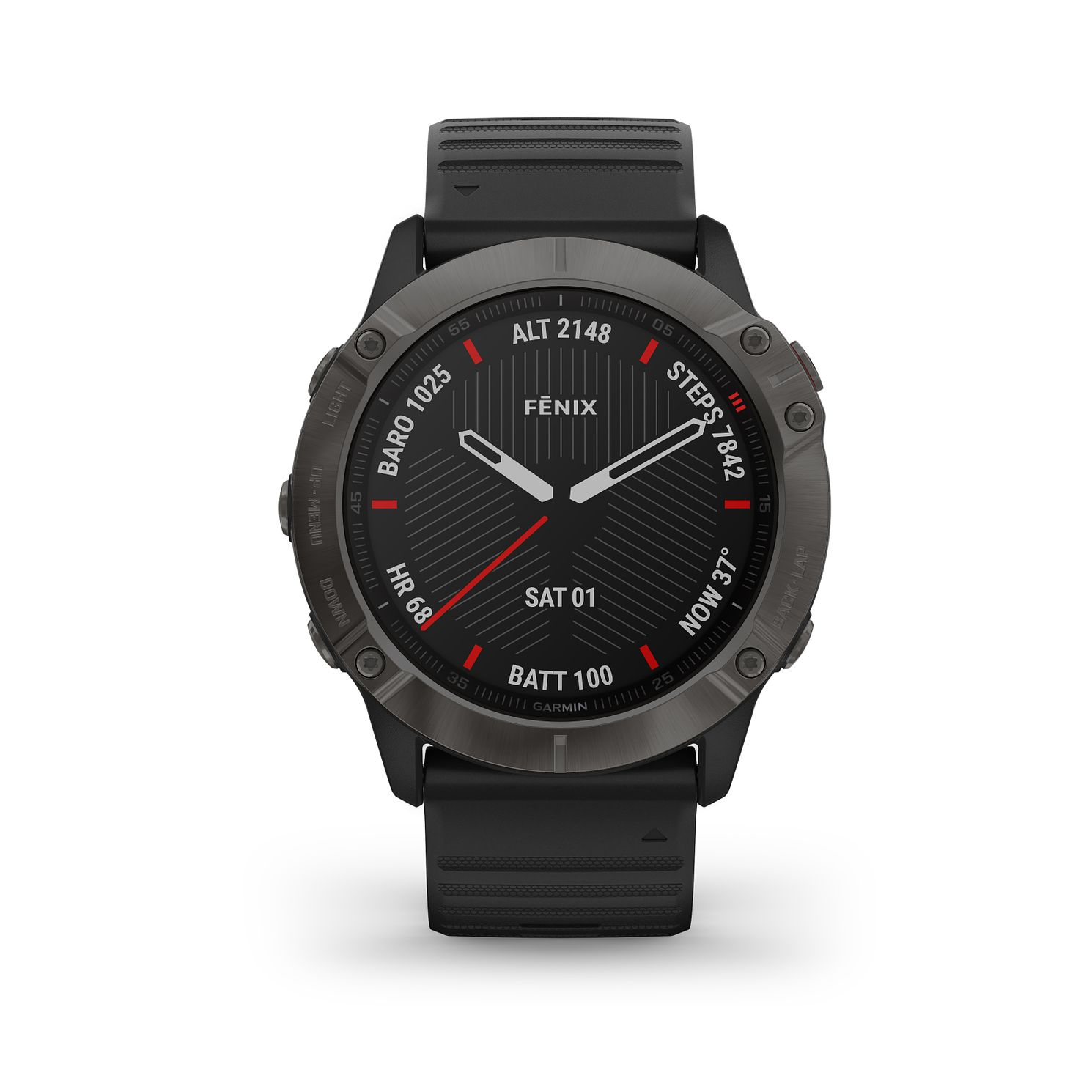 Garmin fenix 6X Sapphire Black Silicone Strap Smart Watch - Product number 3657914