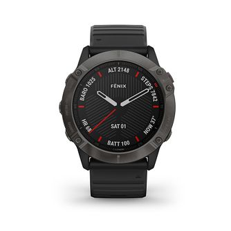 Garmin Fenix 6X Sapphire Black Silicone Strap Smartwatch - Product number 3657914