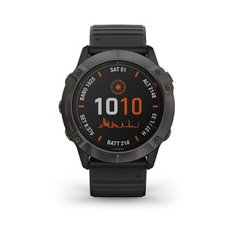 Garmin fenix 6X Pro Solar Black Silicone Strap Smart Watch - Product number 3657922