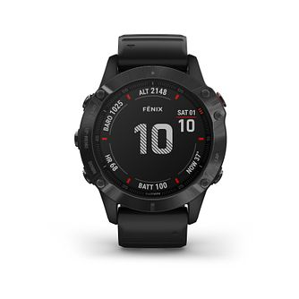 Garmin fenix 6 Pro Men's Black Silicone Strap Smart Watch - Product number 3657930