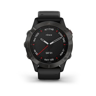 Garmin fenix 6 Black Silicone Strap Smart Watch - Product number 3657949