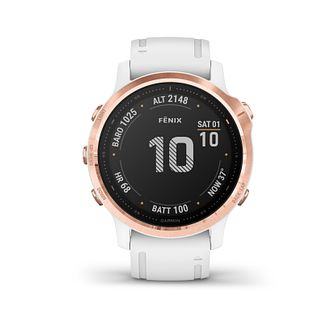 Garmin fenix 6S Pro Ladies' White Silicone Strap Smart Watch - Product number 3658082