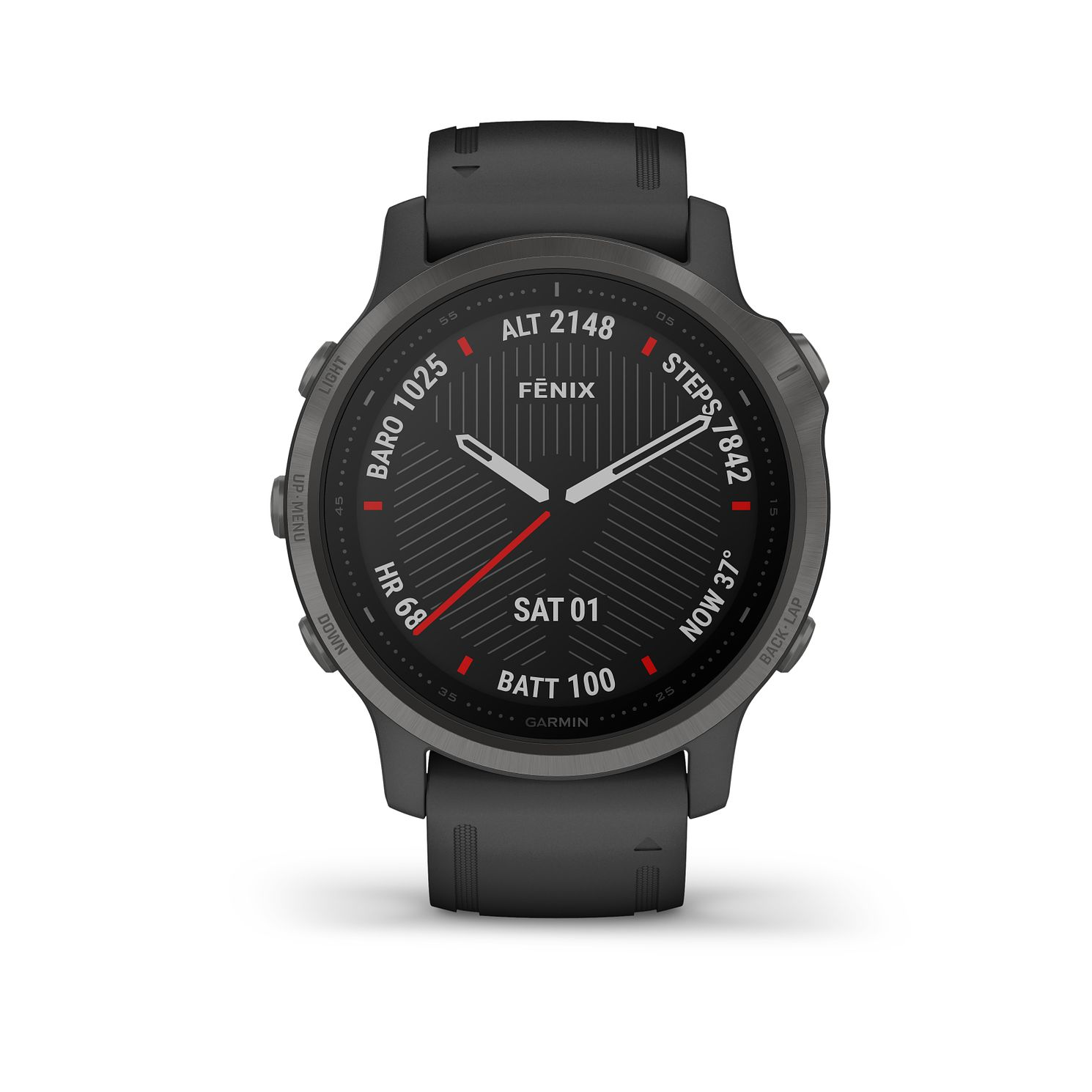 Garmin fenix 6S Sapphire Black Silicone Strap Smart Watch - Product number 3658112