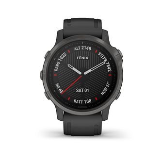 Garmin Fenix 6S Sapphire Black Silicone Strap Smartwatch - Product number 3658112