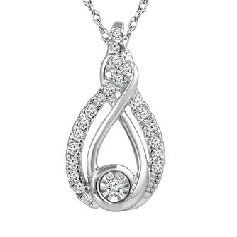 Interwoven Ladies' Sterling Silver 0.10ct Diamond Pendant - Product number 3658635