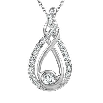 Interwoven Ladies' Sterling Silver 0.33ct Diamond Pendant - Product number 3658783