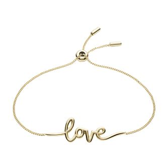 Fossil Ladies' Gold Tone Love Bracelet - Product number 3664260