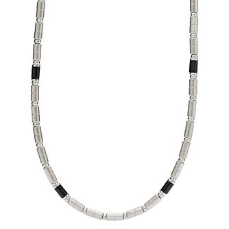 Fossil Men's Stainless Steel & Agate Necklace - Product number 3664643