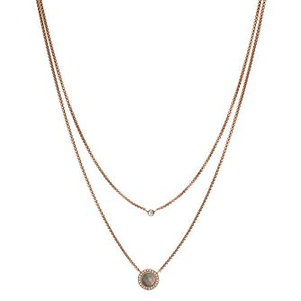 Fossil Rose Gold Tone Two Chain Necklace - Product number 3664651