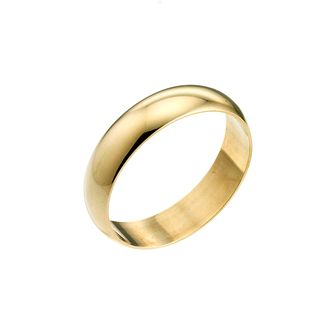 9ct Yellow Gold 6mm Extra Heavy D Shape Ring - Product number 3671569