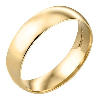 9ct Yellow Gold 6mm Extra Heavy Court Ring