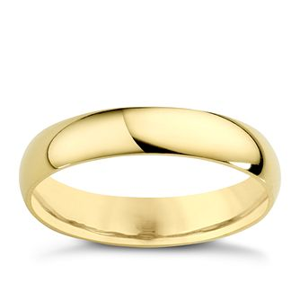 18ct Yellow Gold 4mm Extra Heavy D Shape Ring - Product number 3672107