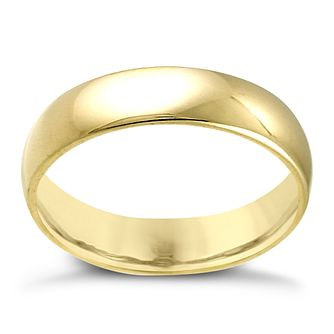 18ct Yellow Gold 5mm Extra Heavy Court Ring - Product number 3672360