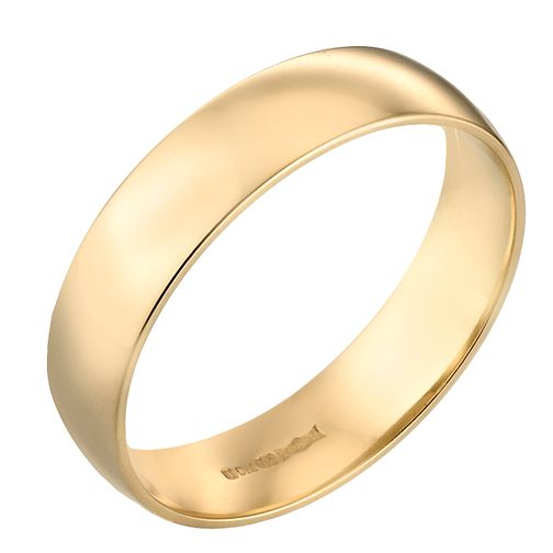 18ct Yellow Gold 6mm Extra Heavy Court Ring - Product number 3672387