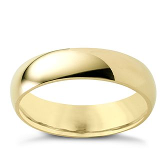 9ct Yellow Gold 5mm Super Heavyweight Court Ring - Product number 3672662