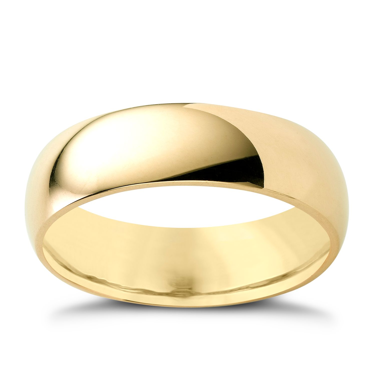 9ct Yellow Gold 6mm Super Heavyweight Court Ring - Product number 3672670