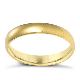 18ct Yellow Gold 3mm Extra Heavyweight Court Ring - Product number 3672867
