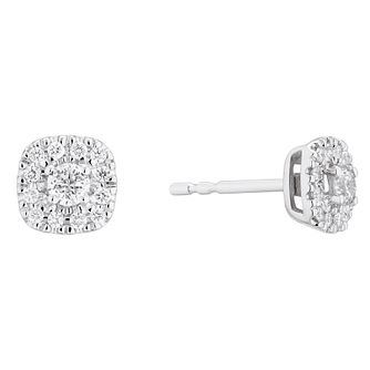 Forever Diamond 9ct White Gold 1/4ct Diamond Earrings - Product number 3677974